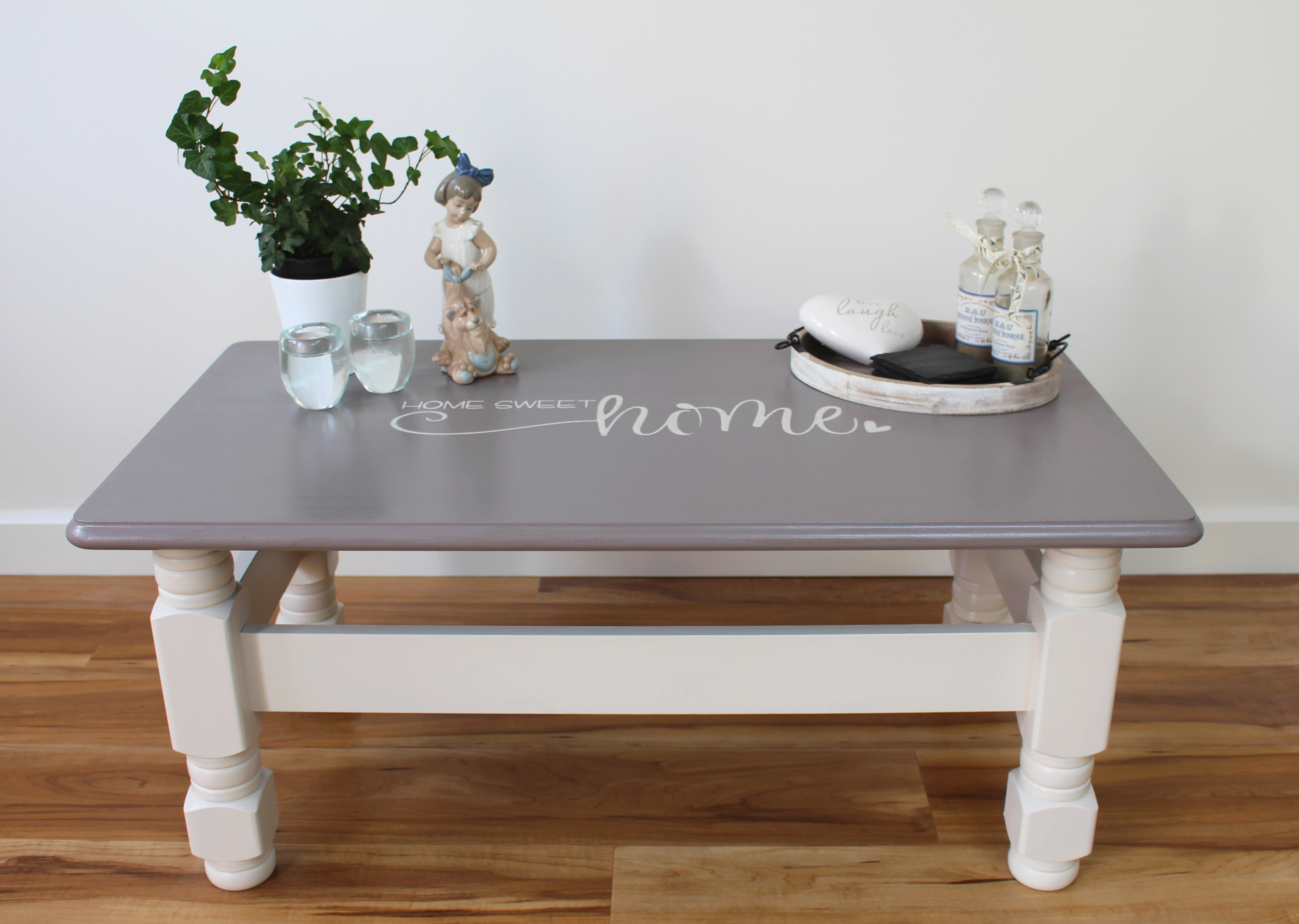 From drab to fab coffee table makeover
