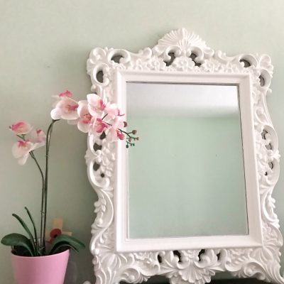 From plastic to plaster mirror chalk paint make-over