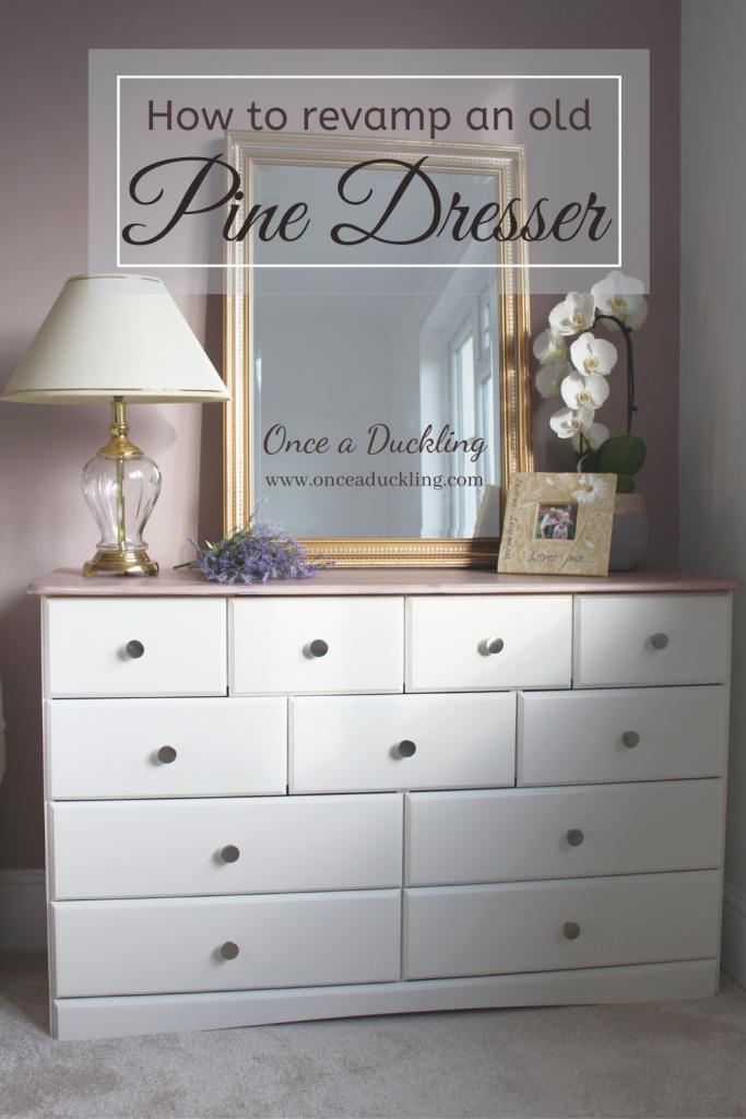 Old Pine Dresser make-over project