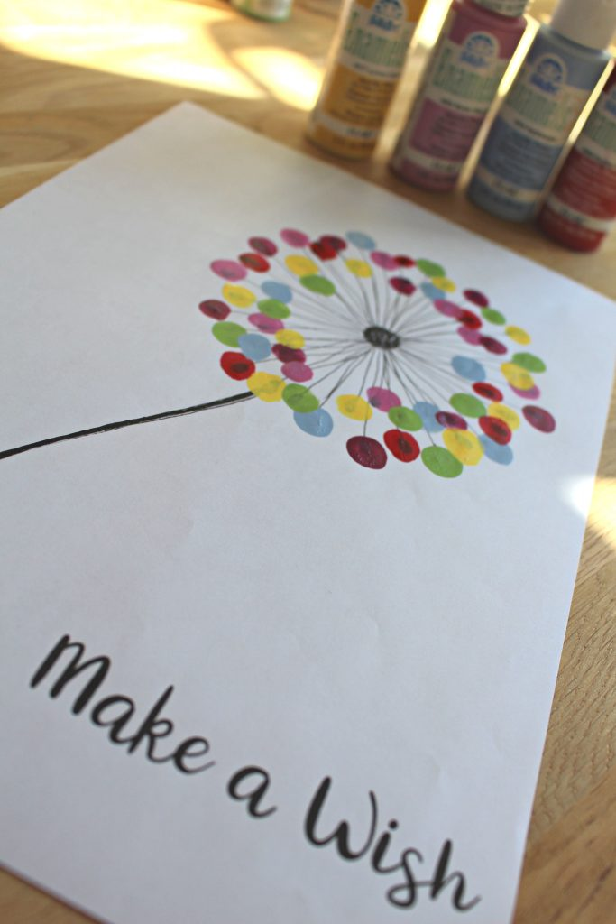 Free Template Spring Craft Dandelion Painting
