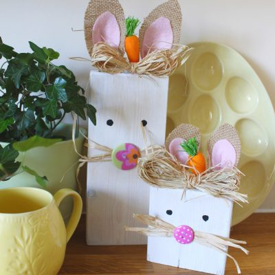 Cute Scrap wood Easter Budget Bunnies