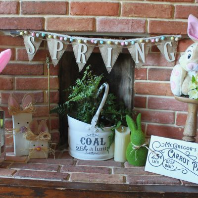 Decorate with some quick and easy Spring bunting