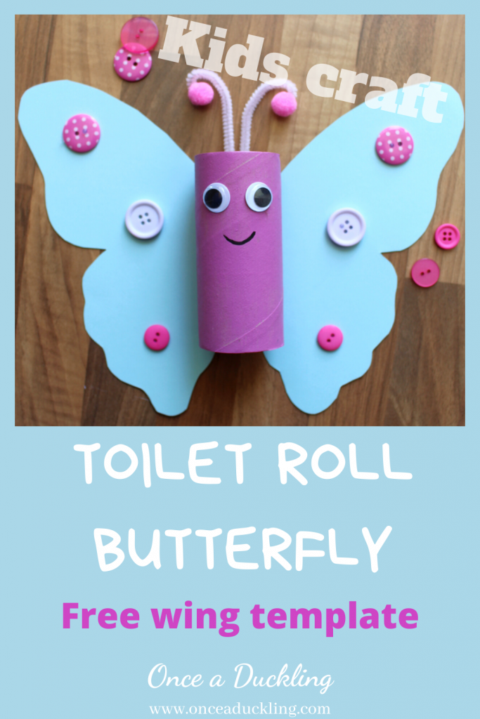 Toilet Roll Butterfly fun project for kids