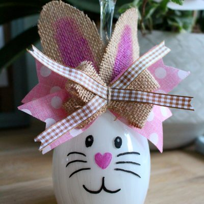 Let's make a cute Wine Glass Bunny!
