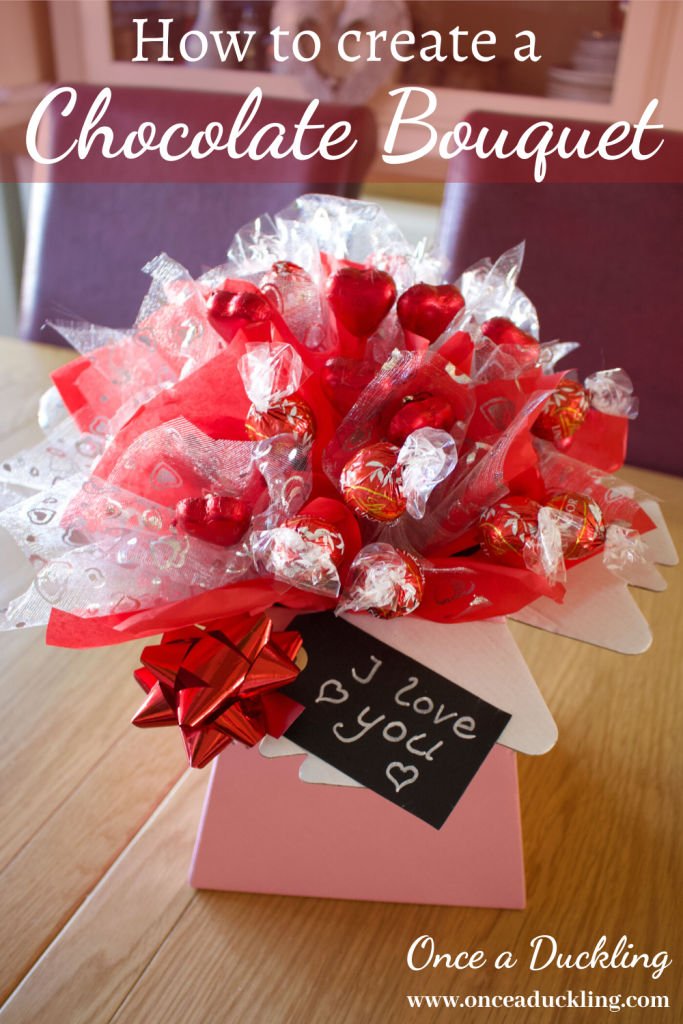 """We all LOVE chocolate, right?  But giving chocolate can feel a bit boooring!  So how's this for a fun, creative way of giving chocolate as a present?  Whether it's for Valentine, birthday, Mother's Day or just """"because"""" - this gift presentation is bound to impress.  Check out how to make your own!"""