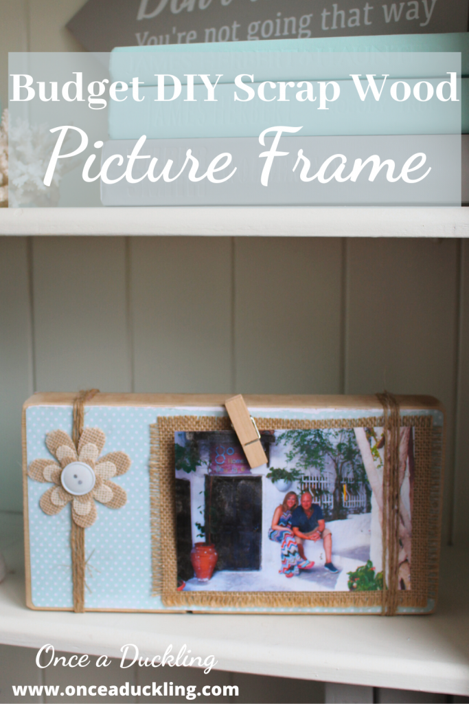 My scrap wood picture frame