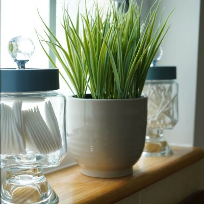 Quick budget bathroom storage jars