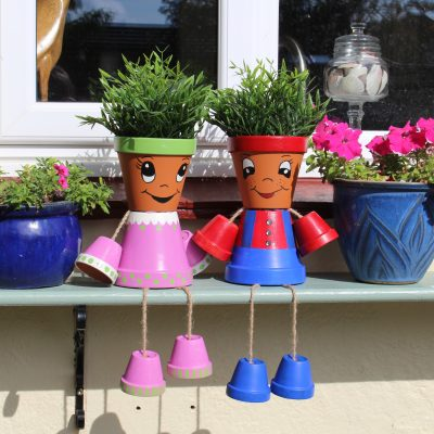 How cute are these flower pot people?