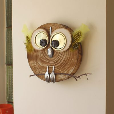 DIY wooden tray Owl craft project