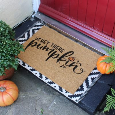 DIY Stencilled autumn doormat