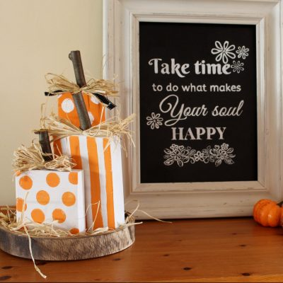 Fun scrap wood DIY pumpkins