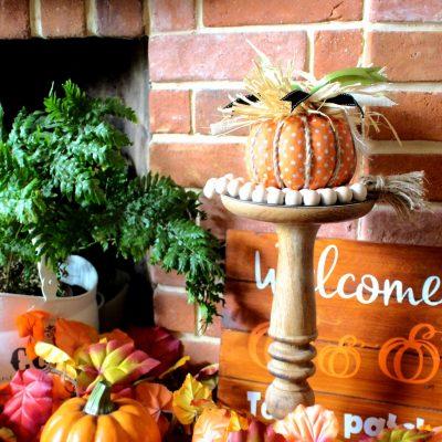 Funky Mod Podge fabric pumpkin