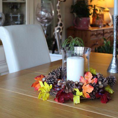 Make a simple autumn wreath or centerpiece