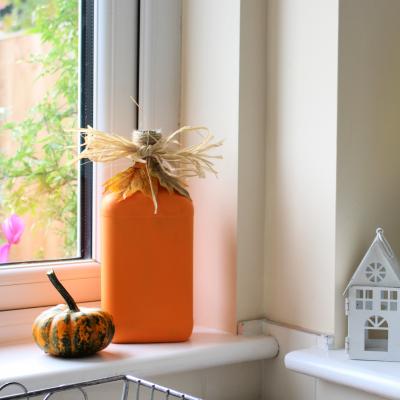 Bottle Pumpkin DIY Recycle project