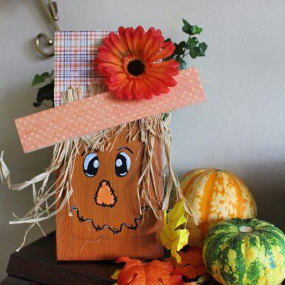 Cute girl scarecrow sign