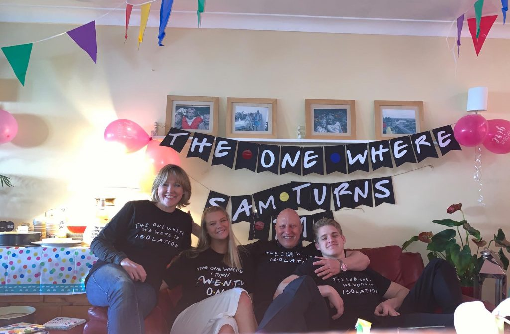 friends themed birthday party with banner