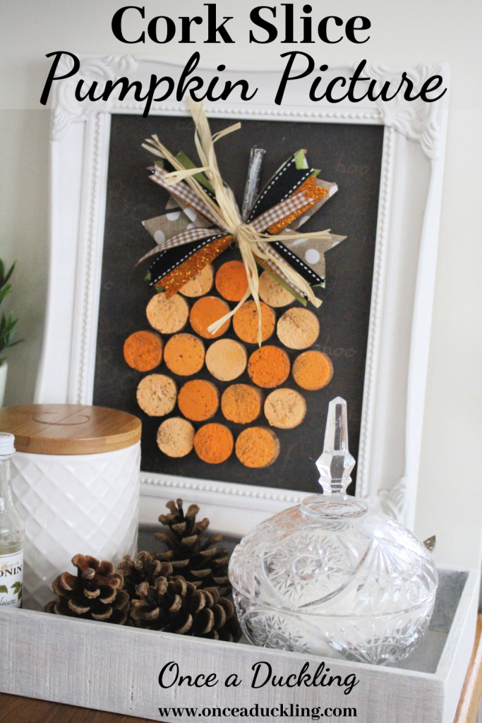 I wanted to add some colour to our coffee tray area for autumn.  And so this seemed the perfect opportunity to recycle some of the old wine corks I had been collecting.  This cork slice pumpkin is a great (budget!) way of adding a bit of autumn colour and fun to your kitchen.    #autumn #fall #autumnkitchen #pumpkin #cork #corks