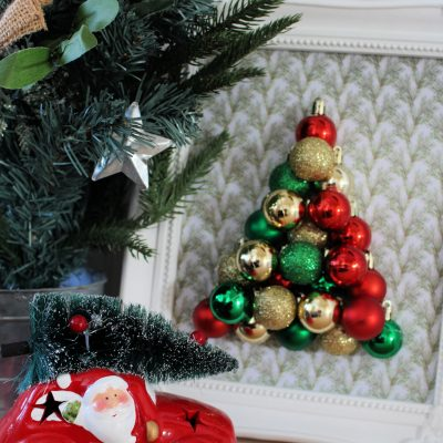 DIY Christmas bauble tree picture