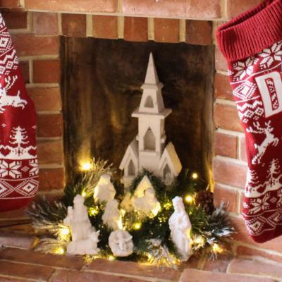 My Christmas Nativity set make-over
