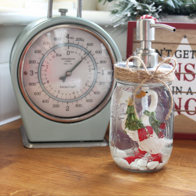 How to make your own Christmas soap dispenser