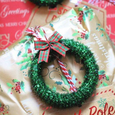 Old curtain ring Christmas mini wreaths