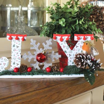 Poundland Christmas sign make-over