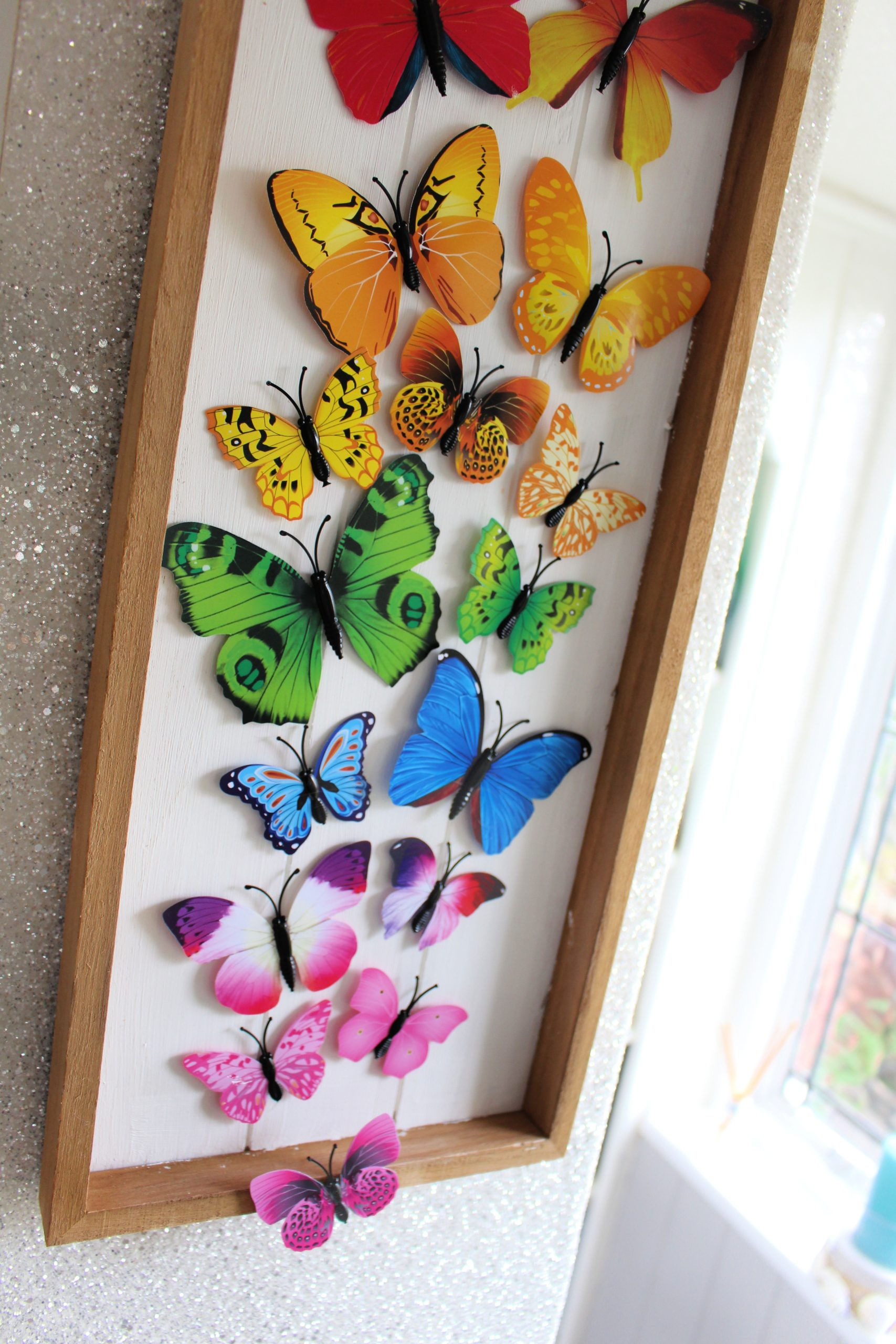 Rainbow butterfly craft