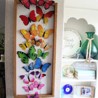 Simple DIY Colourful Rainbow butterfly display
