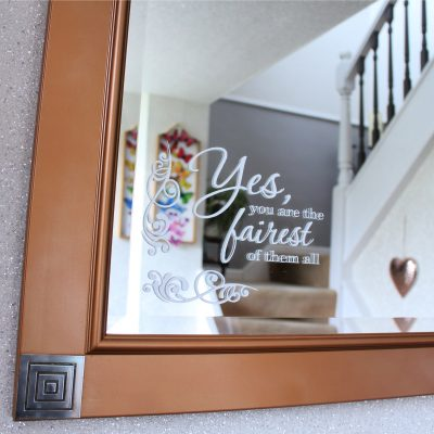 """Fairest of them all"" mirror makeover"