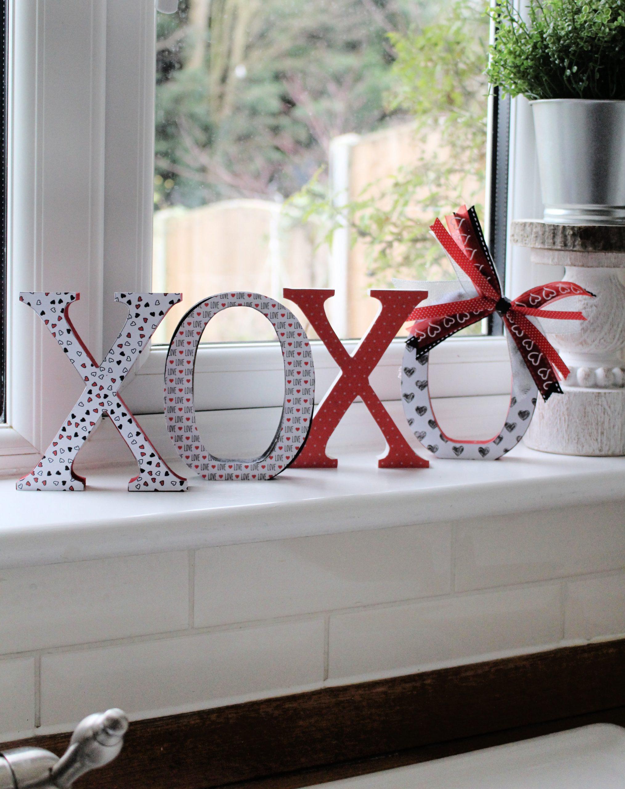 XOXO Valentine Mod Podge project