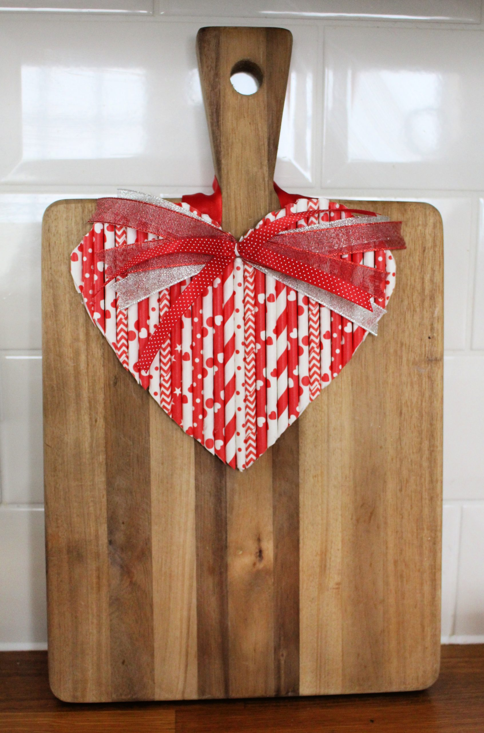 paper straws heart project