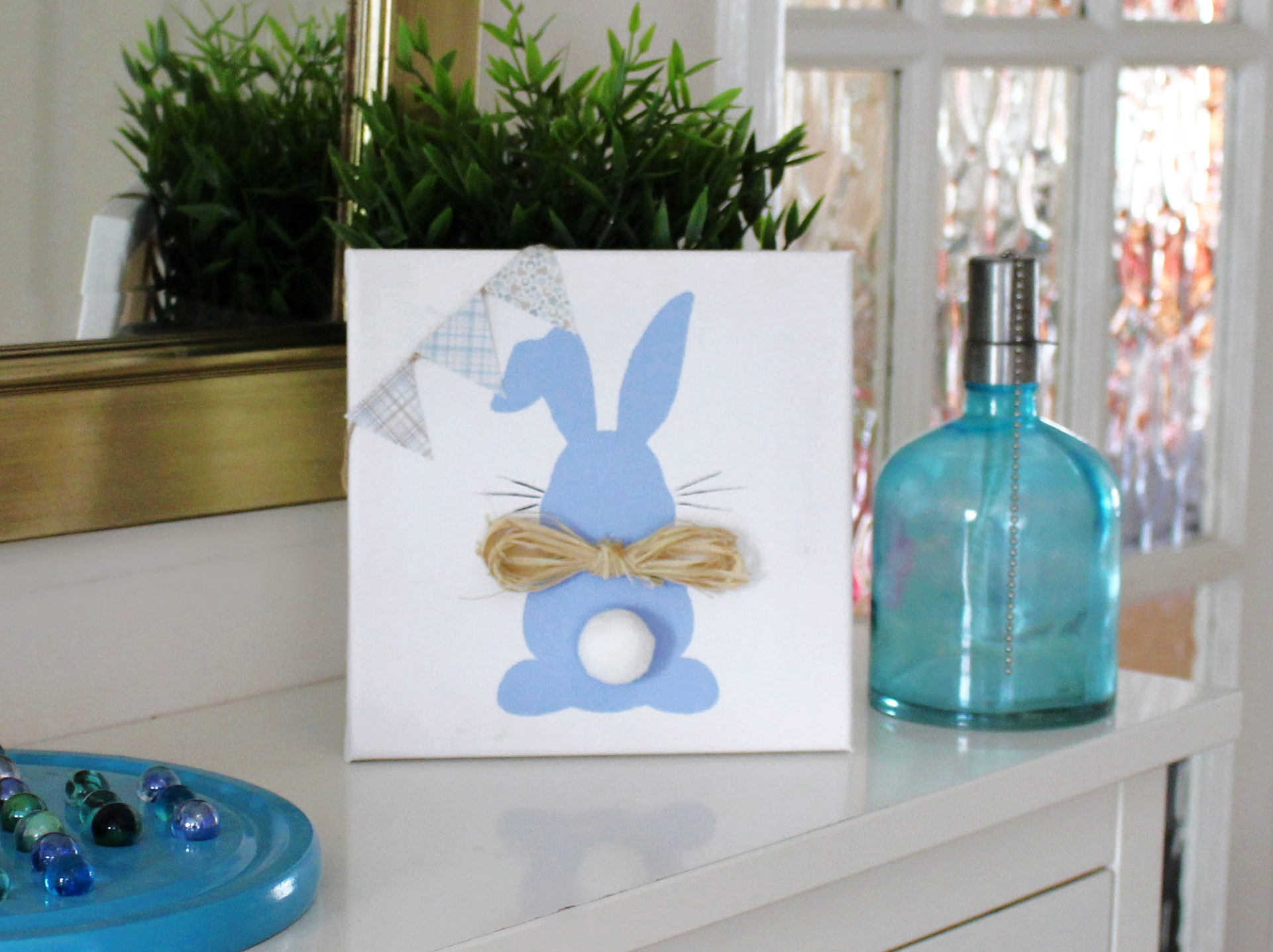 Easy Easter Bunny Canvas Craft Project