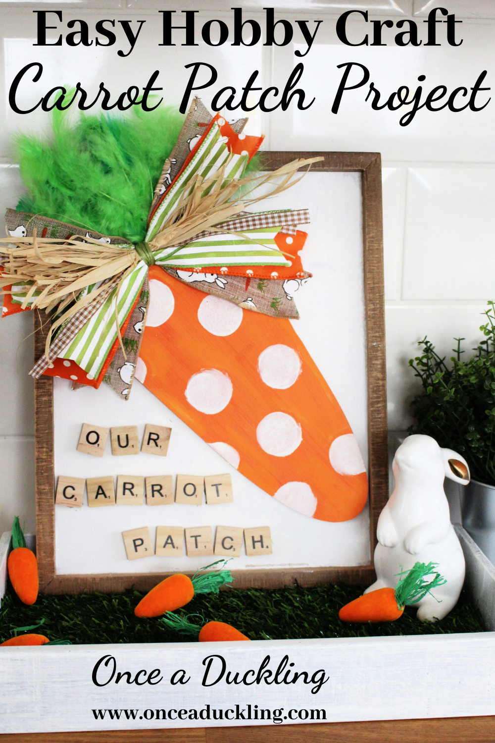 Hobby Craft Carrot Patch Project