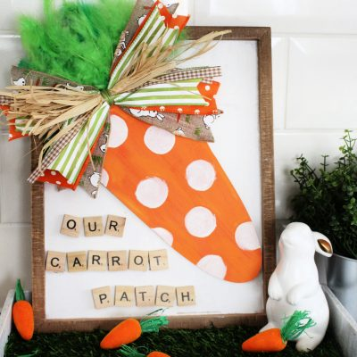Cute Hobbycraft template Carrot Patch Sign
