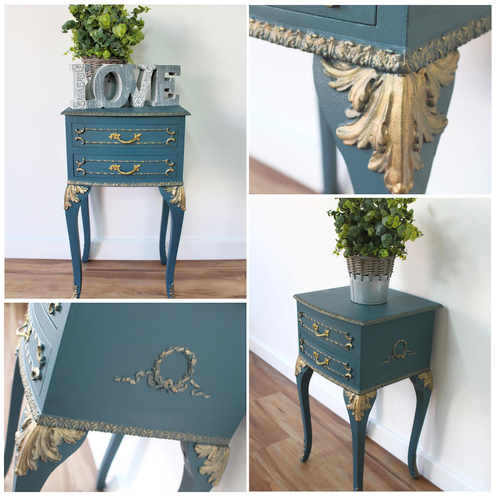 side table paint mineral fusion make-over