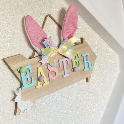 Floppy Bunny Ears Easter Sign