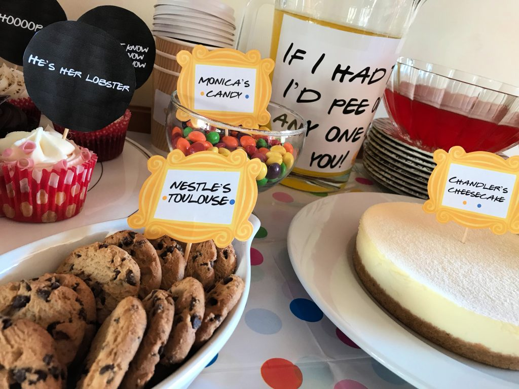 friends themed party food