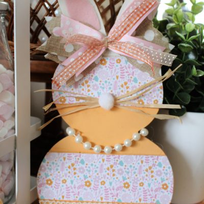 £3 Hobbycraft Bunny template Spring make-over