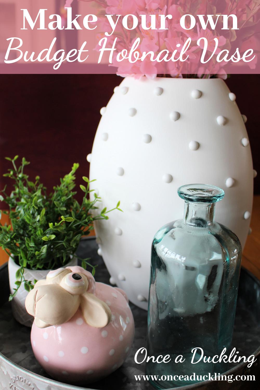 DIY Hobnail Vase make-over