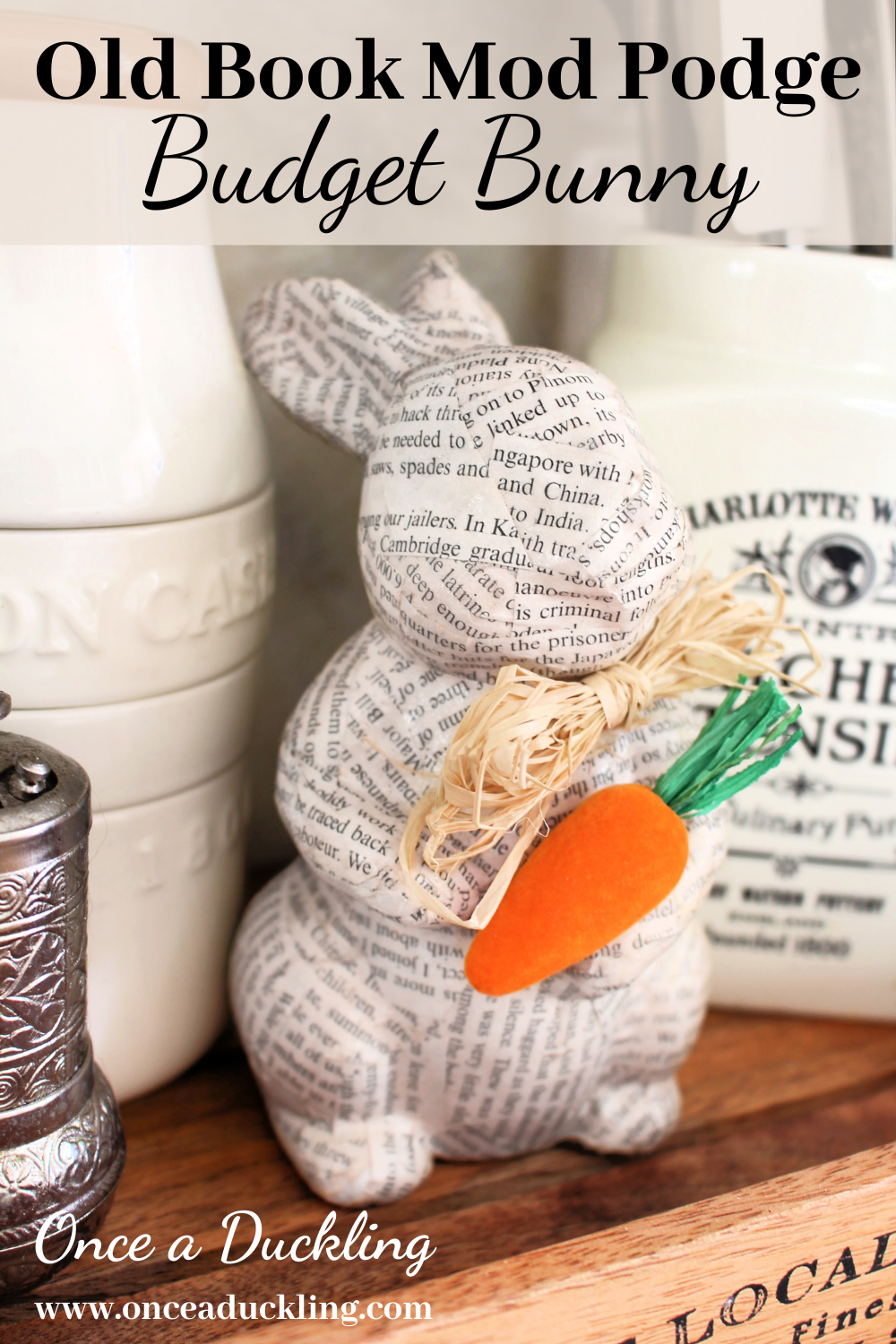Mod Podge Easter Bunny Craft project