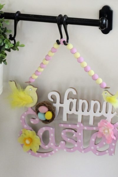 The Range Happy Easter Sign makeover pastel colours Craft UK