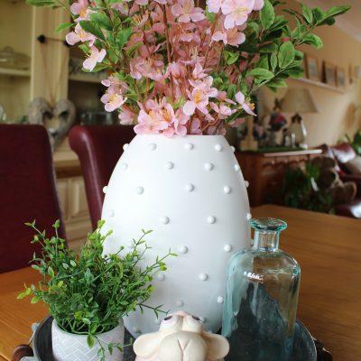 DIY Hobnail Second Hand Vase Transformation