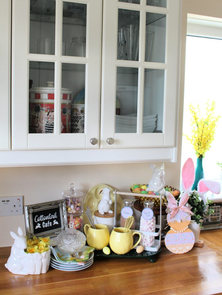 Easter Bunny Bar hot cocoa and coffee