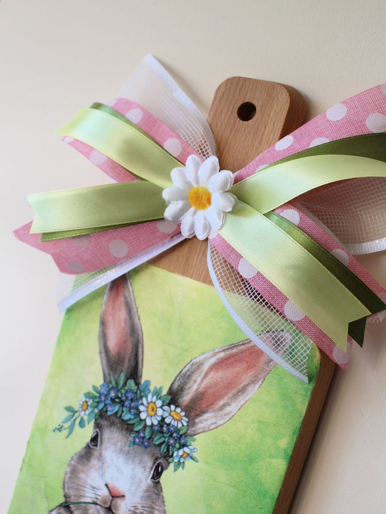 Bright napkin Mod Podge Easter Spring Craft Project