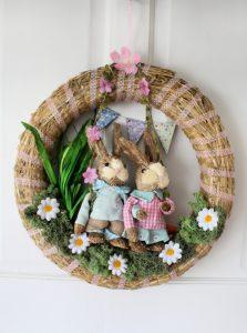 Spring wreath | Easter Wreath | Country Vibe | Natural wreath | wreath craft | DIY wreath #easter #springcraft #springdecor