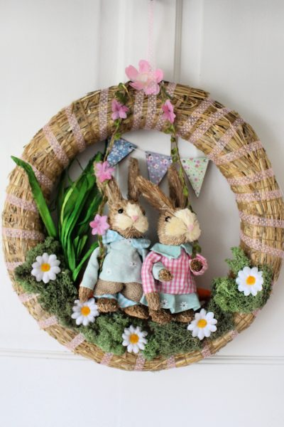 Spring wreath | Easter Wreath | Country Vibe | Natural wreath | wreath craft | DIY wreath #easter #springcraft #springdecor