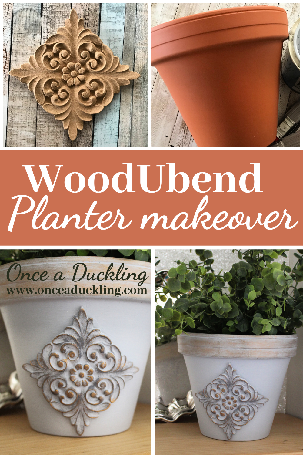 Pin for WoodUbend planter makeover before and after