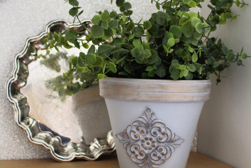 WoodUbend terracotta planter makeover