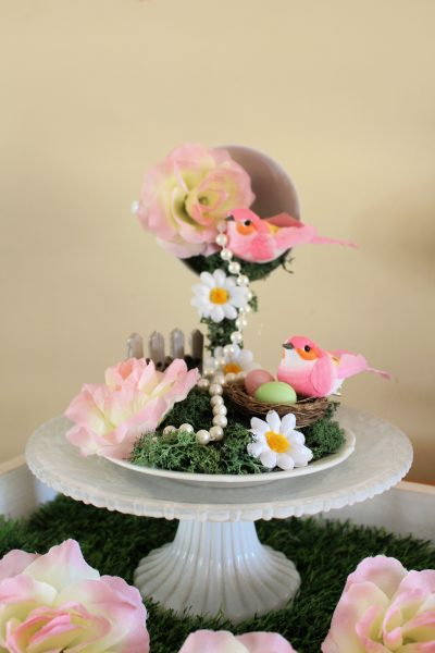 Floating tea cup and saucer craft mini garden