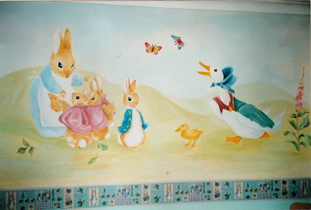 completed Peter Rabbit Mural painting